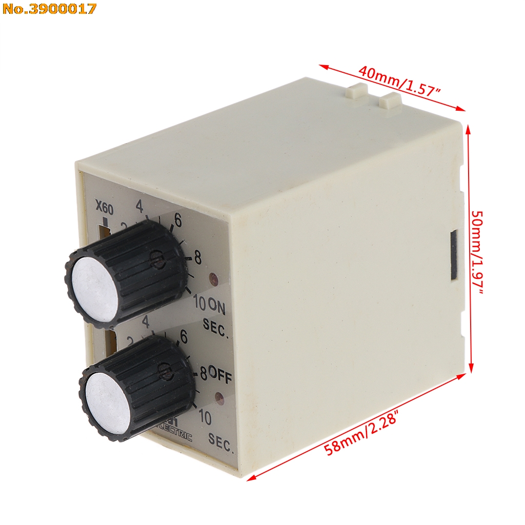 St3pr Electrical Time Relay Electronic Counter Relays Digital Timer Switch With Socket Base