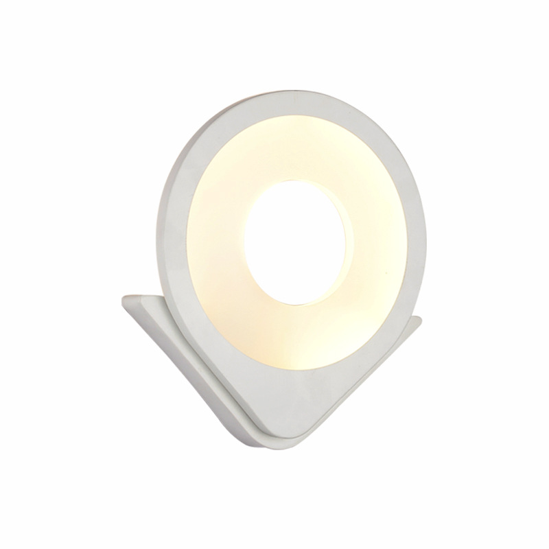 Modern White Led Wall Lamp  Acrylic Bedroom Bedside Lighting Passage Living Room Background Light