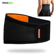 WOSAWE Lumbar Waist Support Brace Belt Waist Trimmer Double Adjust Back Pain Relief Waist Sports Motocross Gym Fitness Belt недорого