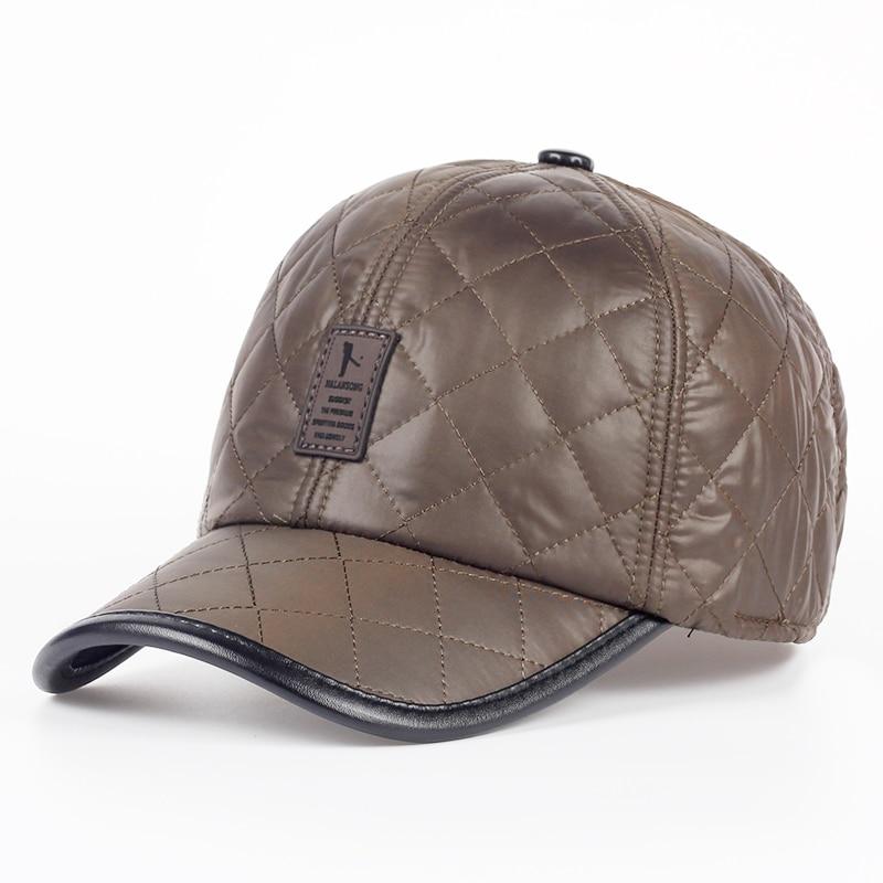 TUNICA 2017 High quality baseball cap men autumn winter Fashion Caps waterproof fabric Hats Thick warm earmuffs baseball cap