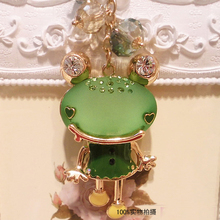 FREE SHIPPING New Arrival Cute Resin Frog Fashion Lover Keychain Bag Car Jewelry Souvenir for Women and Men