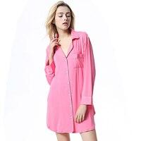 Women Sleep Lounge Long Sleeve Modal Sleepwear Robe Pajama Home Clothing Nightdress Bathrobe Nightgown Pajamas Multicolor