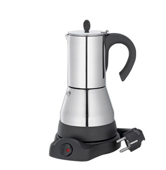 Household 4 Cups and 6 Cups Coffee Machine Espresso Coffee Pot Plug-in Portable 304 Stainless Steel Electric Moka Pot