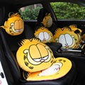 Car Styling Cartoon Soft Plush Car Seat Cover Pad Car Interior Accessories Headrest Pillow Back Cushions Mats 1pcs