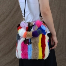 4566d9bf71 Buy rabbit fur bucket bag women and get free shipping on AliExpress.com