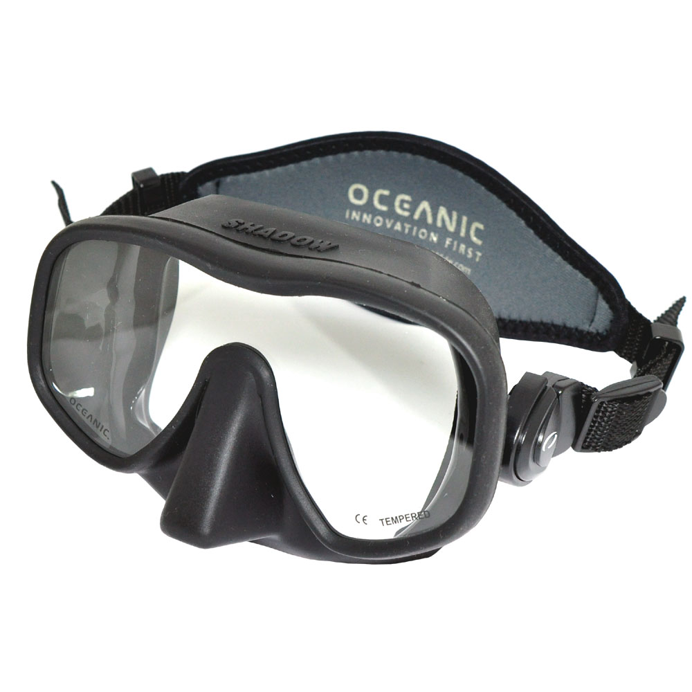 Oceanic Shadow Frameless Dive Mask, (great for Scuba Diving and Snorkeling) oceanic ocl wristwatch dive computer w usb