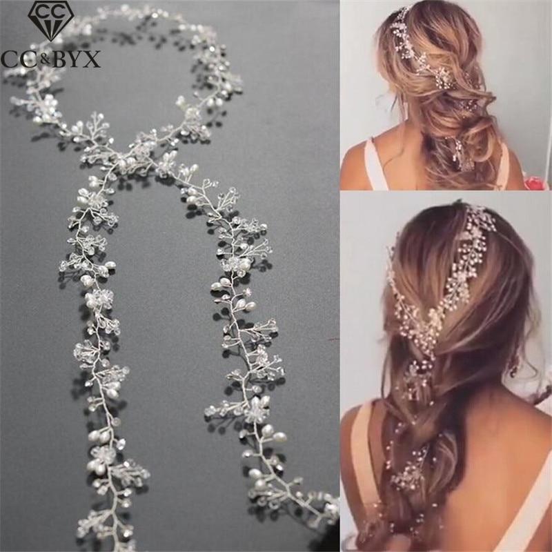 CC Jewelry Wedding Headband Head Crowns Flower Party Wedding Hair Accessories For Women Bridal Crown Bride Tiara Romantic 0403 недорого