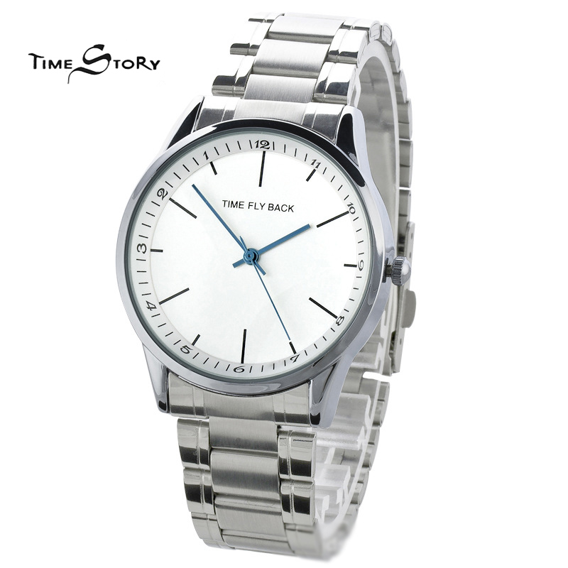 Brand Time Story Anti clockwise Classic Fashion Watch Men Casual Business Quartz Wrist watches Stainless Steel