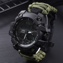 LED Military Watch with compass 30M Men Waterproof Sports