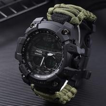 Military Waterproof Men Wristwatches Male Clocks Men's Watch Trendy Mens Watch  Shock Sport Watches Big Dial Quartz Digital цена