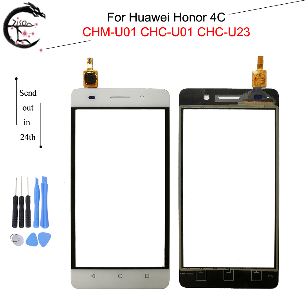 Touch Panel For Huawei Honor 4C CHM-U01 CHC-U01 CHC-U23 Touch Screen Outer Glass With FPC Flex Cable Honor4C Sensor Digitizer