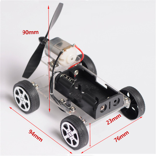 Smarian Mini Wind Car Diy Puzzle Robot Car Chassis Kit Of Children