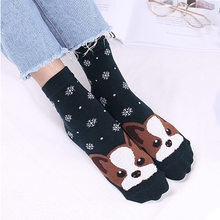 Cute Funny Animal Dog Cotton Pregnant Socks Winter Spring New Warm Female Women Girls Socks Sokken(China)