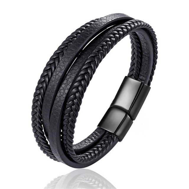 brixini.com - Handmade Genuine Leather Braided Multi-layered Bracelets