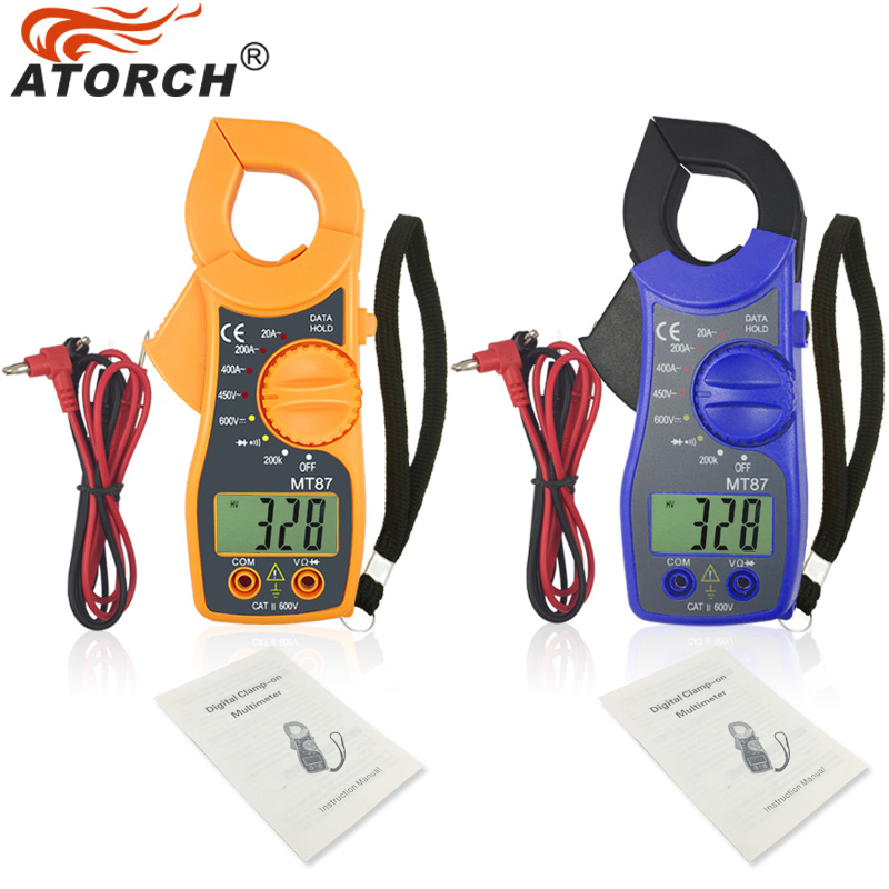 ATORCH Electronic Multimeter Digital Clamp Meter DC AC Voltage Current Tongs Resistance Amp Ohm Tester Medidor Multimetre Tools atorch electronic multimeter digital clamp meter dc ac voltage current tongs resistance amp ohm tester medidor multimetre tools