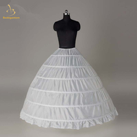 2018 Brand New Stock Wholesale 6 Hoops Bridal Wedding Petticoat Marriage Skirt Crinoline Underskirt QA1272