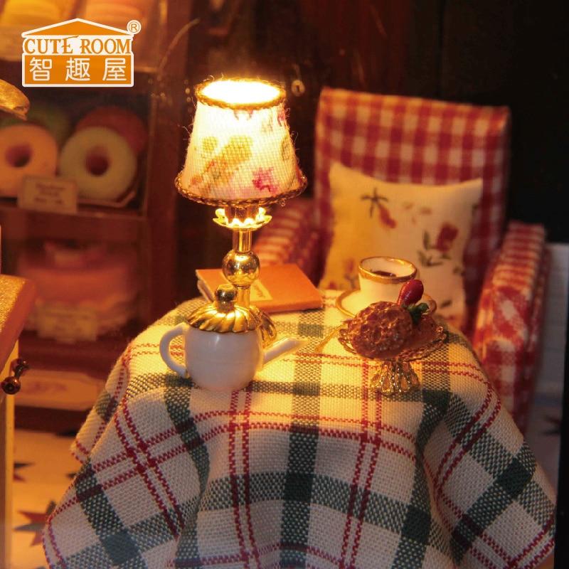 Meubles Poupée DIY Maison Wodden Miniatura Maisons De Poupées Kit - Poupées et accessoires - Photo 3