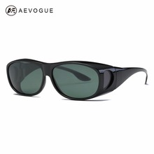 AEVOGUE Polarized Sunglasses mens Over-The-Glass Safety Glasses Suncover Myopia Polaroid Lens Unisex UV400 AE0509