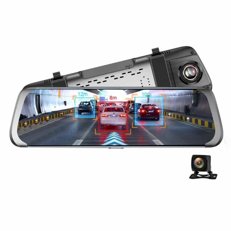 A930 10 Сенсорный экран заднего вида автомобиля камера-видеорегистратор Двойной объектив 1080 P 4G Wi-Fi Android ADAS gps записывающая камера-видеорегистр...