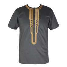 African Clothes Men`s Dashiki Tunic Tops Africa Ethnic Riche Embroidery Wedding Wear Attire