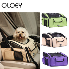 Pet Dog Cat Carrier Bag Outdoor Portable Travel Car Carrying Backpack Breathable Seat Cover for Small Product
