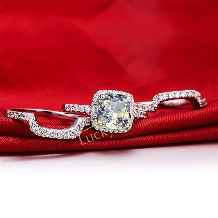 3ct Lab Created Synthetic Diamonds Ring For Women Solid 585 Gold