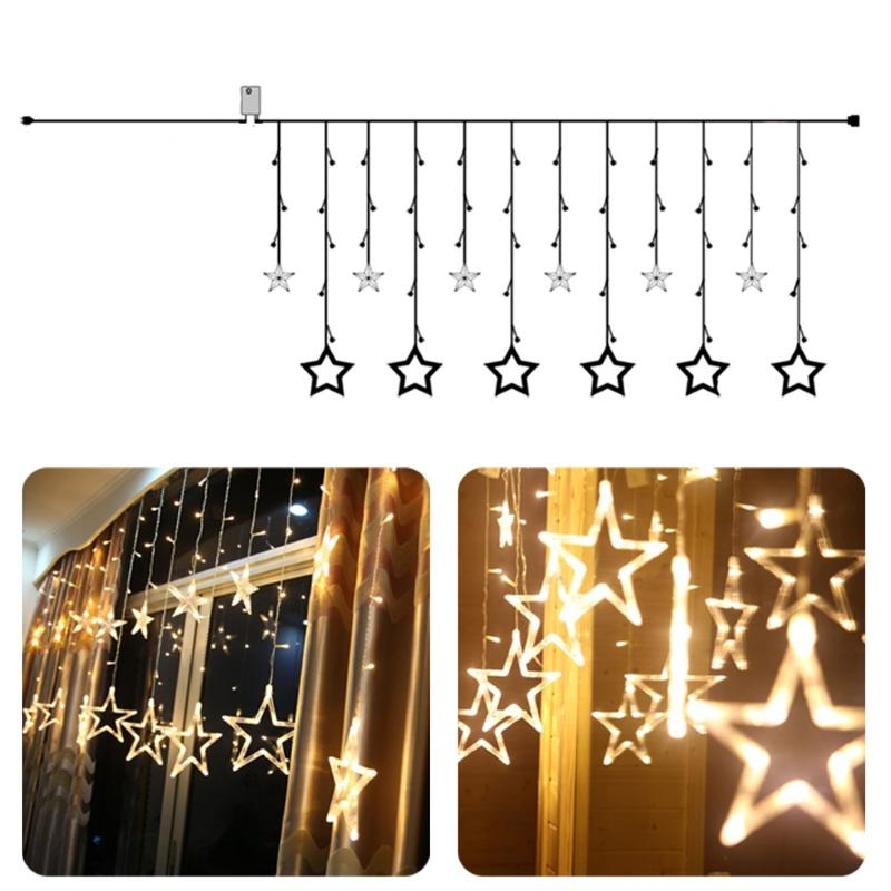 Indoor 8 Modes Star Curtain Fancy LED String Light Waterproof Colorful light for Wedding Room Hotel Decoration colorful wood board print waterproof shower curtain