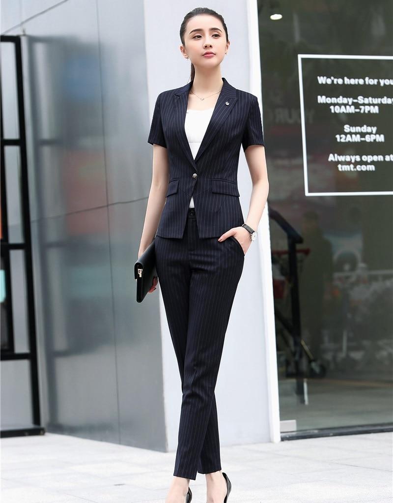 1ece76078383 Di Fibra Per Work Pant Giacca Set Eleganti Donna Alta Uniformi Wear Tute E  Le Blazer Donne ...