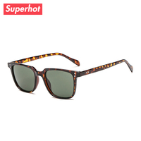 5bfab59265d6 Superhot Eyewear - Classic Men s Square Sunglasses Brand Designer Sun  glasses Leopard Frame Retro Vintage Shades