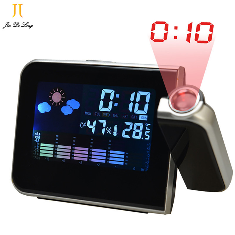 New Hot Projection LED Lcd Digital Alarm Clock with Calendar Humidometer Thermometer Projection Clocks wholesale