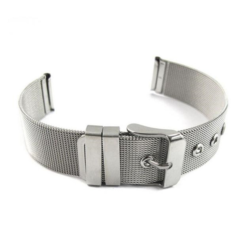 Women Men Stainless Steel Metal Milanese Watchband Watch Band Strap Bracelet Racelet Mesh Buckle Watch Band  #4A24