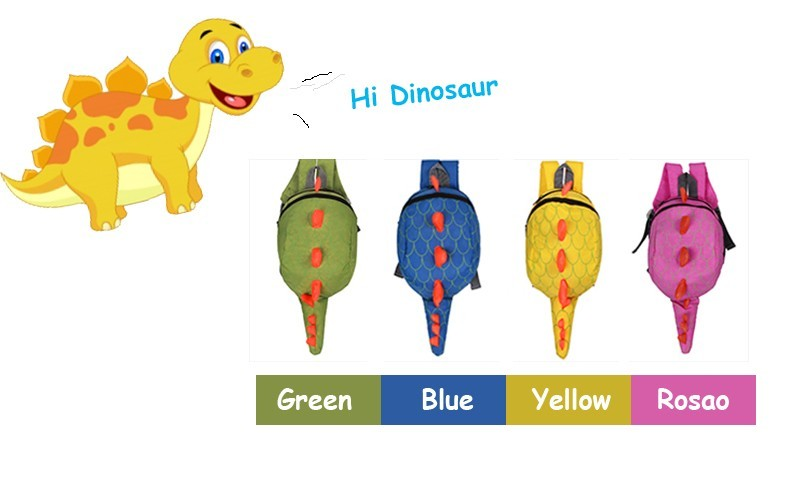 Dinosaur Anti lost backpack for kids Children Backpack aminals Kindergarten School bags for 1-4 years 1