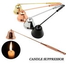 Нержавеющая сталь свеча фитиль Snuffer свеча пламя триммер колокольчик формы масляная лампа ножничный резак воск свеча Огнетушитель 50 шт