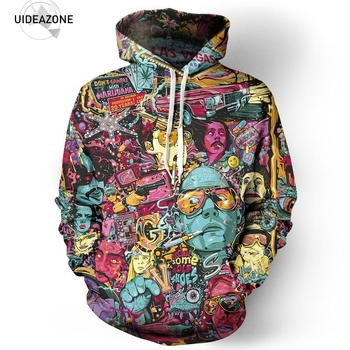 Fear And Loathing Hoodie Men Women 2018  Autumn Winter Sportswear Tracksuit Casual 3D Plus Size Clothing Pullover Hoody Tops 5XL hoodie