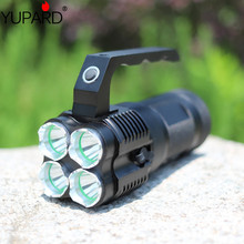 YUPARD outdoor sport fishing camping Bright 4*CREE XM-L T6 LED Flashlight Torch Spotlight Searchlight 18650 rechargeable battery