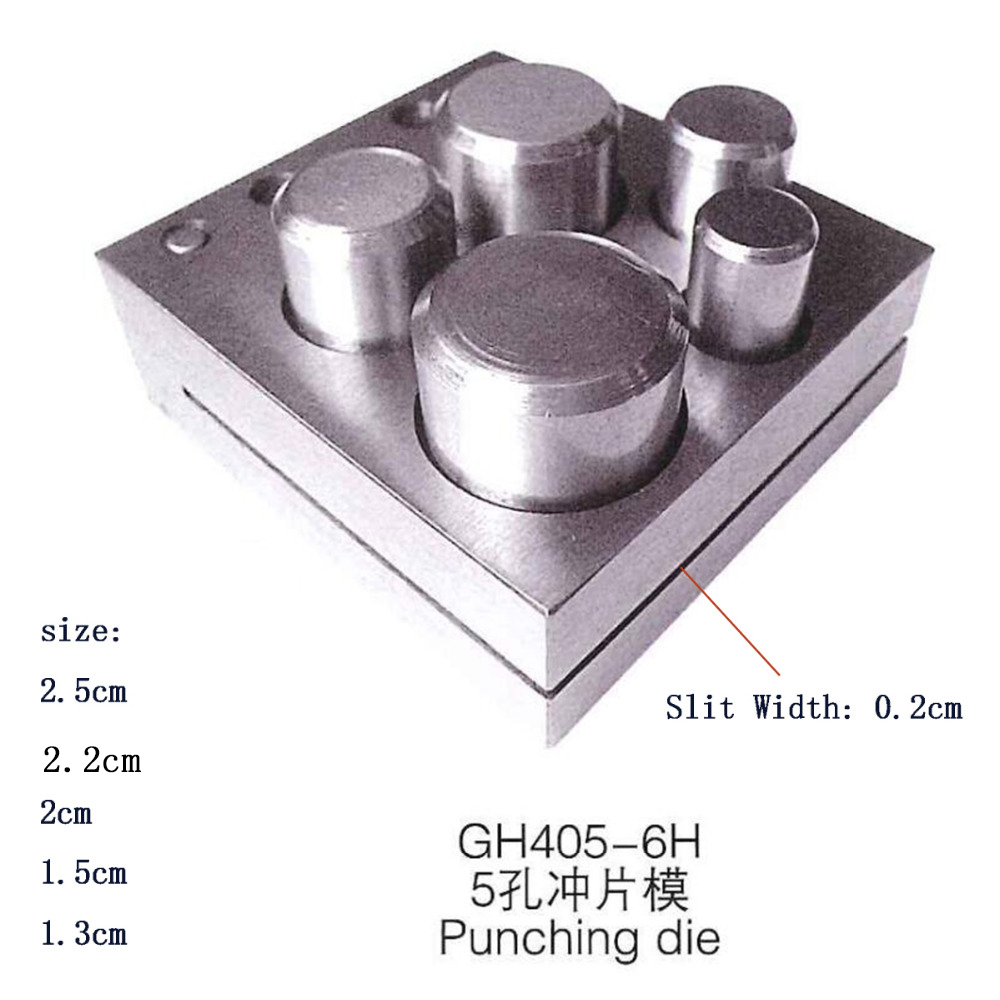 Jewelers Disc Cutter Punch Set Metal Circle Round Mold Cutting Punching Jewelry Tools 5 Or 7 Holes