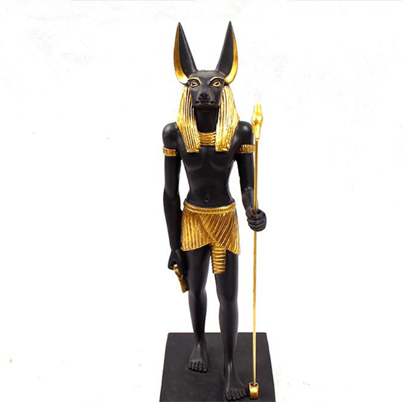 Resin Craft Home Decoration Accessories Egypt Style Anubis Statue&Sculpture Ornaments Home Gift Room Decor Egypt God OrnamentsResin Craft Home Decoration Accessories Egypt Style Anubis Statue&Sculpture Ornaments Home Gift Room Decor Egypt God Ornaments