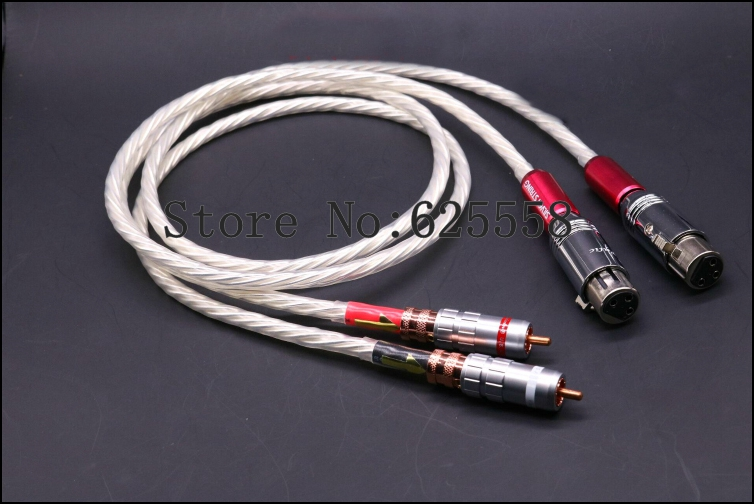 1XPair 1M Hi-End Nordost Odin Silver Plated RCA TO XLR Plug Audio Interconnect Cable extension cable водонагреватель electrolux ewh 100 formax dl