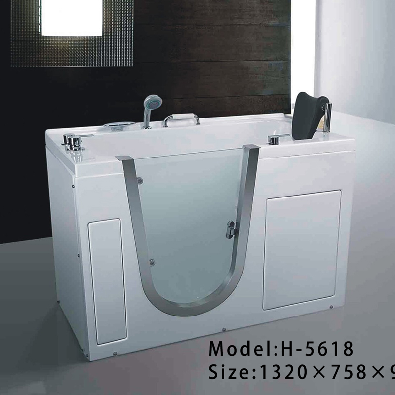Foshan supplier acrylic massage whirlpool portable walk in bathtub
