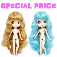 Factory Special Offer Blyth Doll Joint Body DIY Nude BJD toys Fashion Blyth Dolls girl Christmas gift mix color hair White Skin