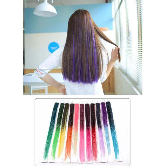 20 Colors Single Clip On One Piece Hair Extensions Synthetic