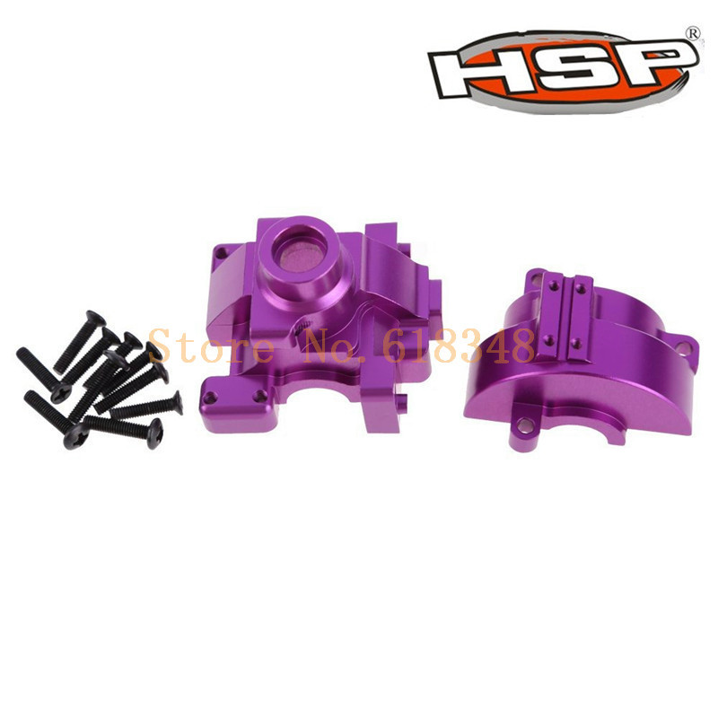 Original HSP 1/10 Upgrade Parts 102075 Alum Gear Box With Screws Accessories For RC Car 4WD On Road 94102 SONIC CNC 1pcs hsp 02023 clutch bell double gears for 1 10 nitro powered on road rc drift car gear upgrade parts