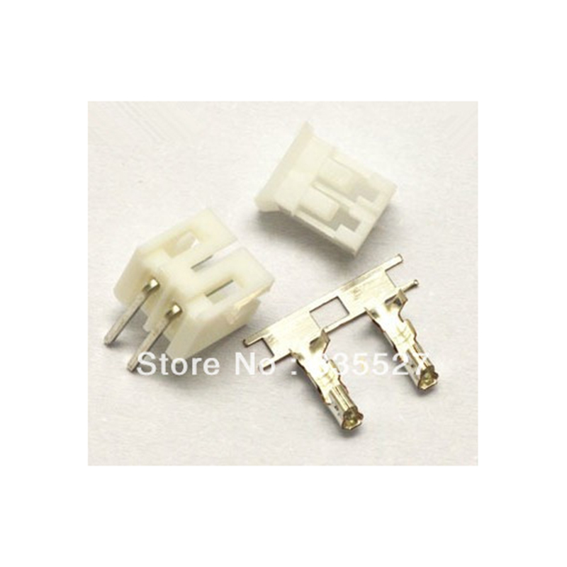 100pcs/lot Ph2.0-2p 2pin Terminal Block 2.0mm Pitch Connector : Plug + Plastic Bending Needle Socket + Terminal