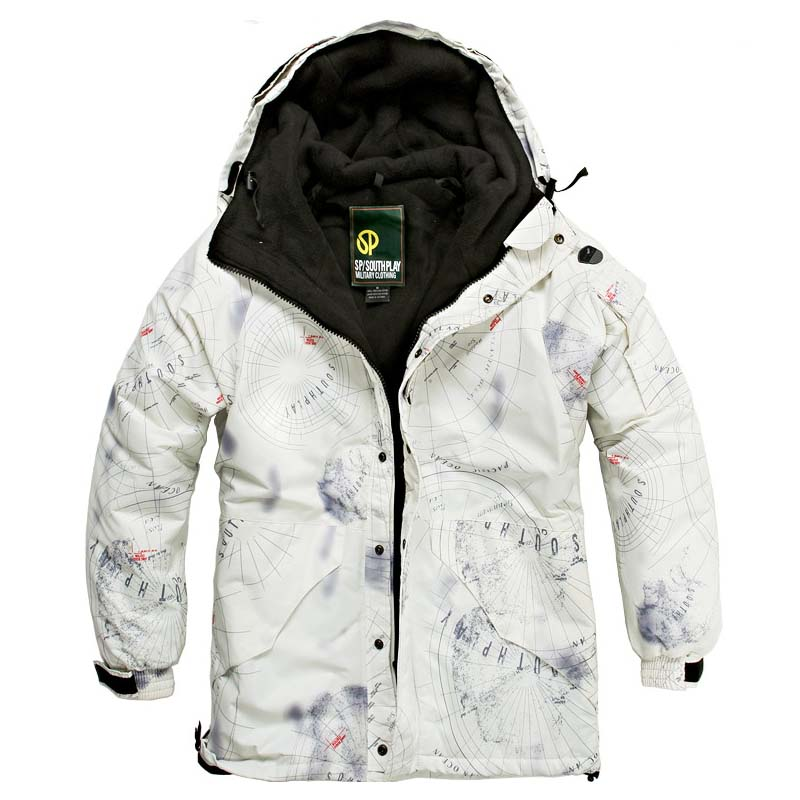 Newest Edition Southplay Winter Season Waterproof 10,000mm Ski- Snowboard White SKY Military JacketNewest Edition Southplay Winter Season Waterproof 10,000mm Ski- Snowboard White SKY Military Jacket