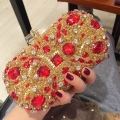 Handmade Balot Style Luxury Diamond Beading Evening Clutch Bag Chain Wedding Evening Bags Women clutch purse for Party L568