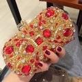 Handmade Balot Style Luxury Diamond Beading Evening Clutch Bag Chain Wedding Evening Bags Women clutch purse for Party L568