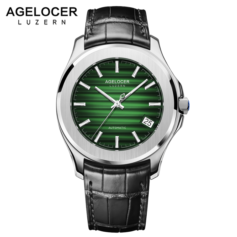 AGELOCER Mens Watches Swiss Top Brand Luxury Leather Casual Mechanical Watch Men Army Military Sport Watch Relogio Masculino 2017 agelocer swiss automatic watch men watches top brand luxury women famous genuine leather wristwatch male relogio masculino