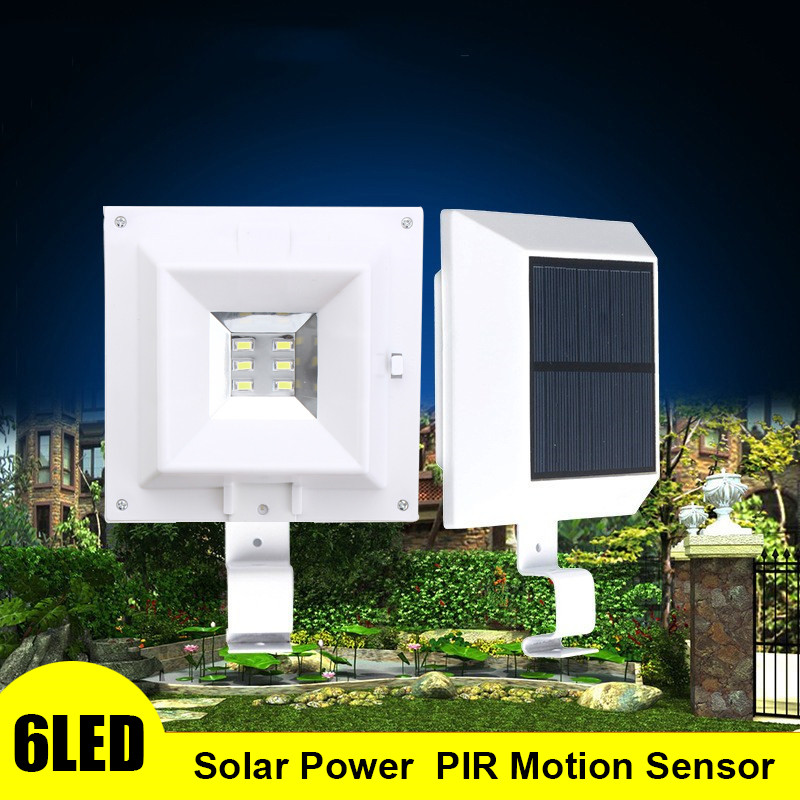 Mising 6 LED Light Waterproof Solar Powered Lamp Wall Mount Lamp Night Light For Outdoor Wall Fence Pathway Garden Patio Gutter new 8pcs solar light lamp powered outdoor garden yard wall led light gutter fence wall lamp