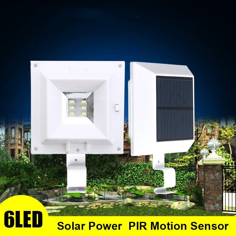 Versprechende 6 LED-Licht Wasserdicht Solarbetriebene Lampe Wandhalterung lampe Nachtlicht Für Außenwand Zaun Pathway Garten Terrasse Gutter