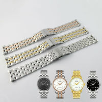 Watch Band Watch Strap Solid 316L Stainless Steel Watchbands For MIDO BARONCELLI GENT M8600 FREE TOOLS